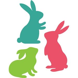 Silhouette Design Store - View Design #26469: 3 easter bunnies