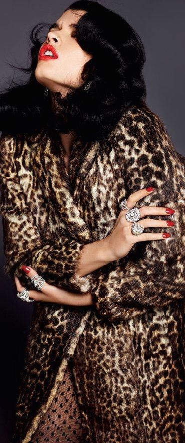 Red Nails and Leopard plus Diamonds Crystal Renn | Inna Erten                                                                                                                                                                                 More
