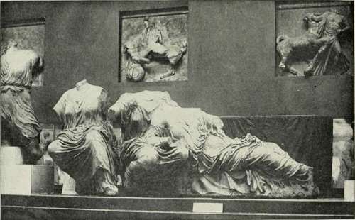 The Elgin Marbles In The British Museum.