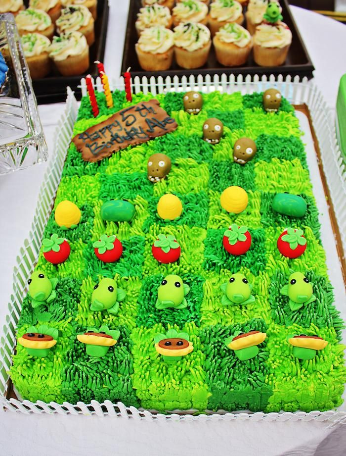 Plants vs. Zombies themed birthday party with Such Cute Ideas via Kara's Party Ideas! Full of decorating tips, cakes, cupcakes, favors, game...