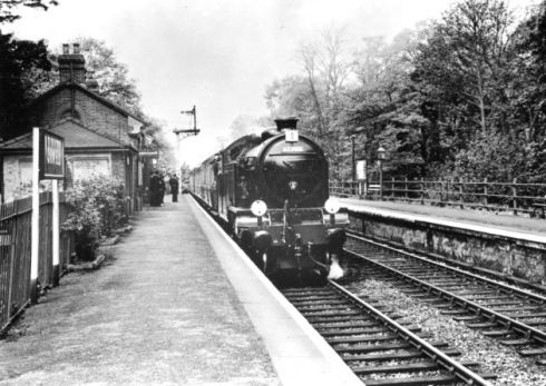 Orwell Station, Nacton on the Ipswich to Felixstowe line in May 1957. (Photo by Aubrey Frost).