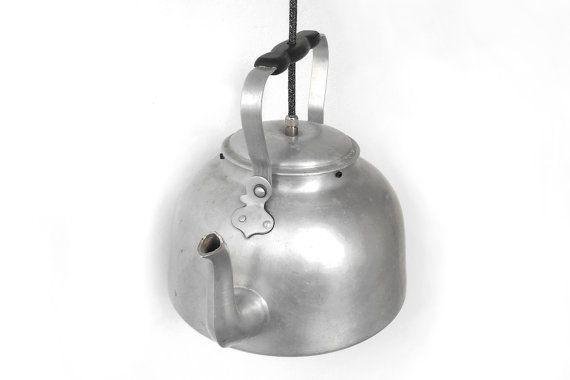 Lighting Fixture Tea pot  Tea Pot Pendant Light  Vintage by BatLab