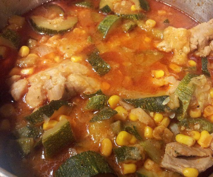 Calabaza con Pollo (Squash with Chicken)