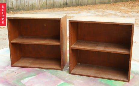 Before & After: Bland Bookshelves Become a Crisp Credenza | Apartment Therapy