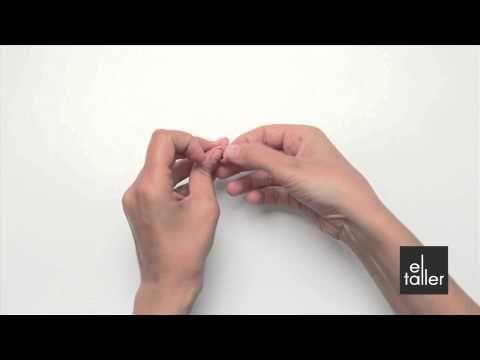 Video tutorial de la técnica de nudo festón para bisutería. www.eltalleronline.com