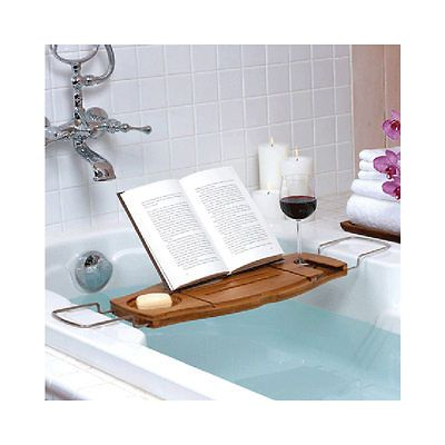 Umbra Bathtub Caddy Shower Bamboo Book Wine Stand Bath Table Organizer Tray New in Home & Garden, Bath, Bath Caddies & Storage | eBay
