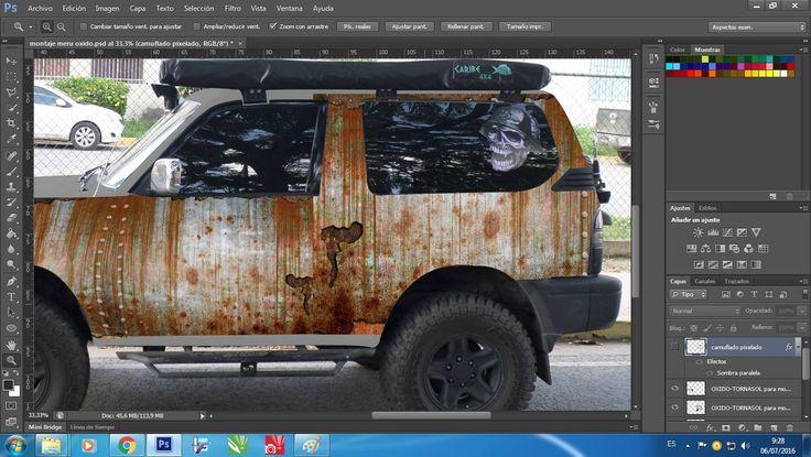 Montaje Efecto Metal Oxidado Merú