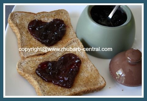 This Blueberry Rhubarb Jam preserves Recipe makes the best Cooked Canned Jam with Blueberries and Rhubarb together!