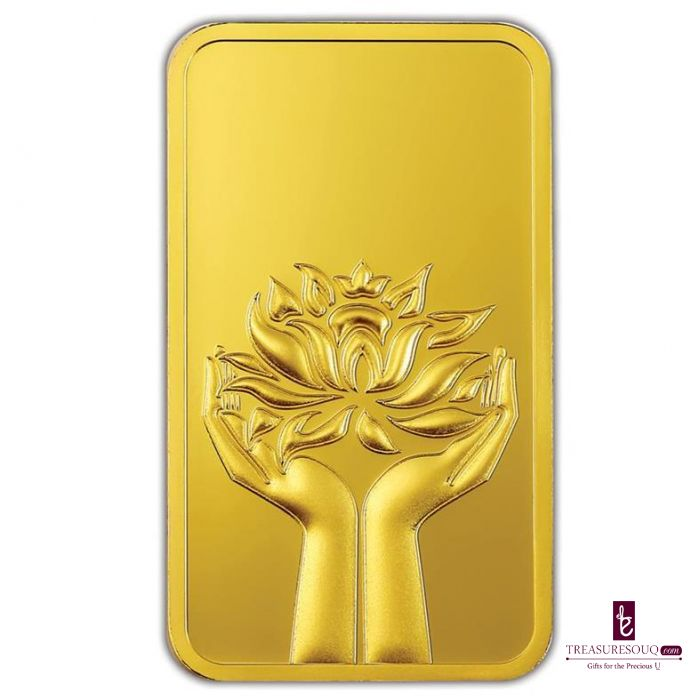Mmtc Pamp India Pvt Ltd Lotus Series 24k 999 9 Purity 100 Gm Gold Bar Gold Coin Treasuresouq Com Mmtc Pamp Gold 100 Grams Gold Bar 24k Purity Gold Bar Buy Gold Jewelry Gold Bar
