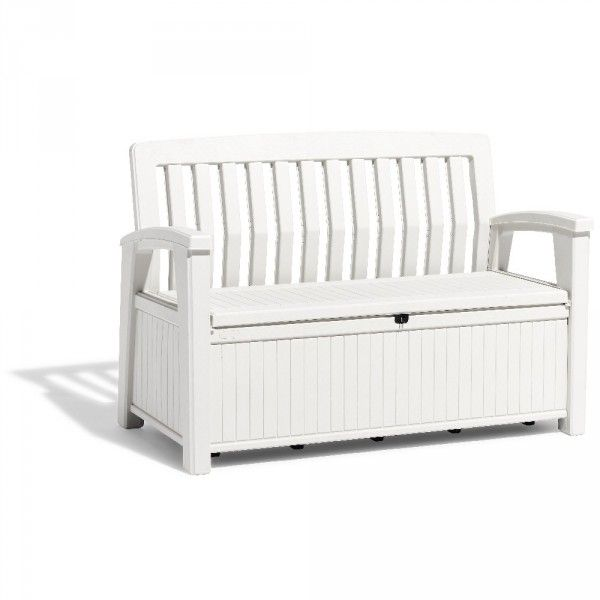 Banc Coffre Plastique 227 L Gifi 407524x Coffre De Rangement Jardin Coffre Blanc Banc Coffre