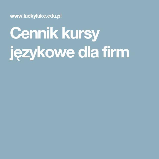 Cennik kursy językowe dla firm