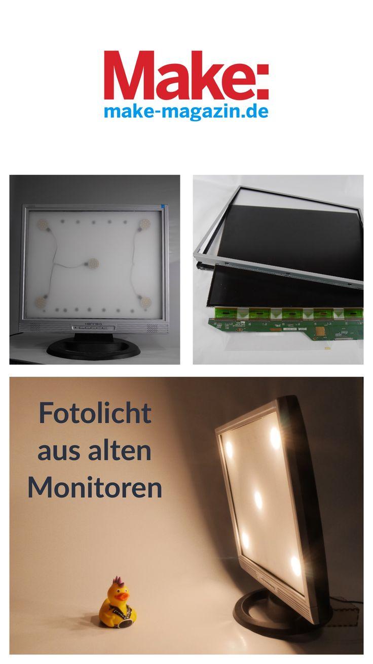 Neue Aufgabe: Flachbildmonitor wird zur Fotolampe