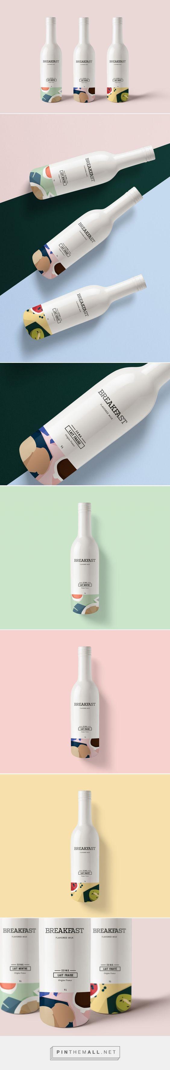 BREAKFAST - Flavored Milk Packaging by Kali Day