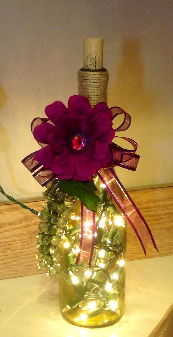 Wine Bottle Light by ZinksTrinks on Etsy, $20.00
