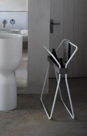 Origin Free Standing Towel Rack With Tray by Inbani | Towel rails