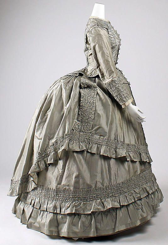 Ensemble Date: ca. 1869 Culture: American Medium: silk Accession Number: 1984.594a–d