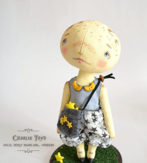 "Little moon - ooak 7,5"" art doll on Etsy, $99.38 AUD"