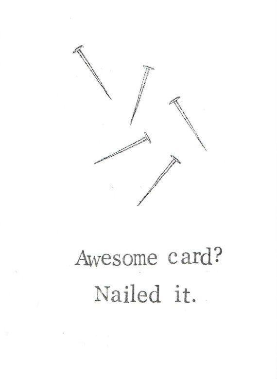 Nailed It Funny Birthday Card Handyman Bad Pun Dad Joke Diy Humor
