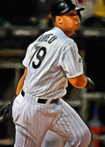 Jose-Abreu-Limited-Edition-Art-Card-1-of-49-Chicago-White-Sox-Rookie