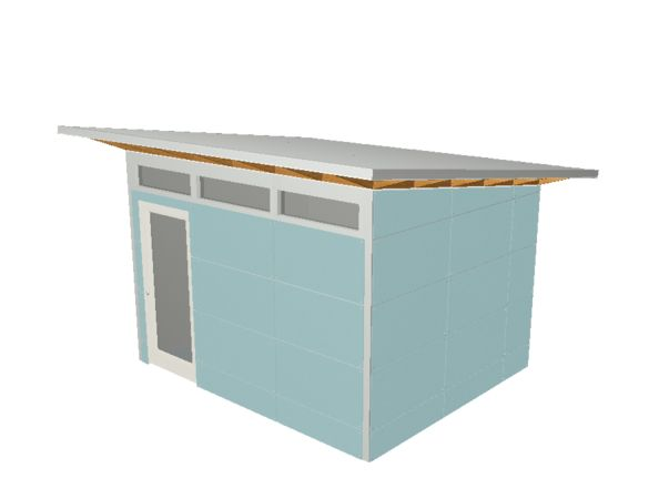 Design build your own modern backyard shed or studio for Design and build your own shed
