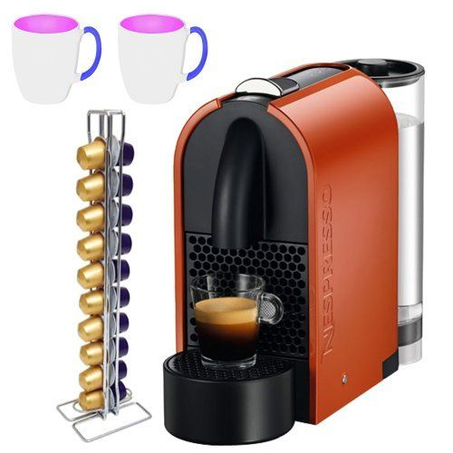 Nespresso U-D50 Pure Orange + 16 oz. Stoneware Coffee Mug + CAPstore Vista 20 for Nespresso Capsules by Nespresso. $199.00. CAPstore Vista 20 for Nespresso Capsules. Nespresso U-D50 Pure Orange. 16 oz. Stoneware Coffee Mug. U is Nespresso's most technologically advanced and eco-friendly machine to date. Its Adaptable and moveable water tank allows this stylish machine to be extremely friendly in your kitchen or office, U is truly more than you see; equipped with an 19-b...