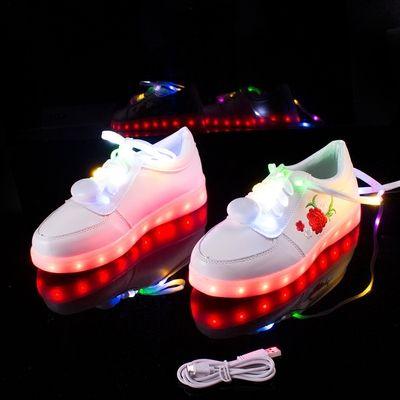 Harajuku Japanese rose Usb charging LED Colorful light shoe from Cute Kawaii {harajuku fashion}