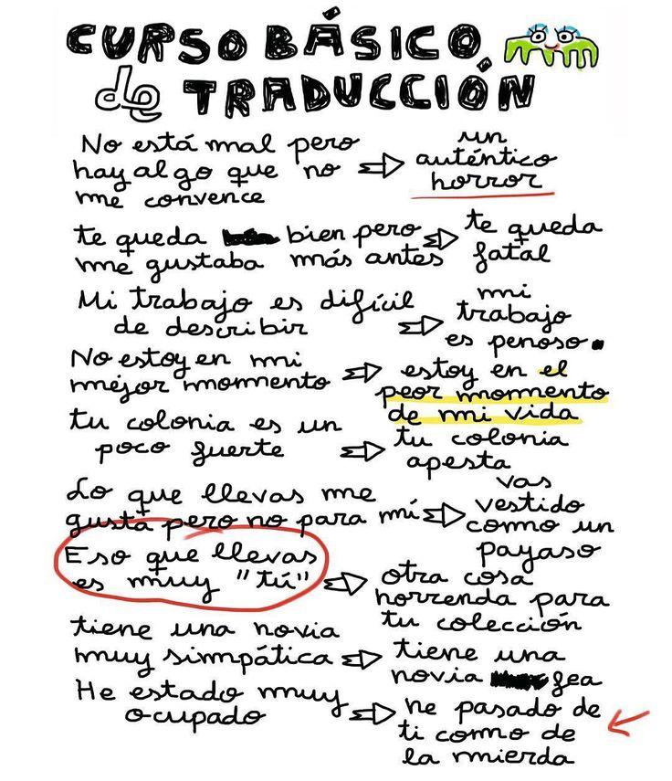 Curso básico de #traducción.  De  @monstruo_espagueti  #pelaeldiente  #comics #caricaturas #viñetas #graphicdesign #funny #art #ilustración #dibujos #humor #artistas #creatividad #illustrator #painting #feliz #artwork #draw #diseño #doodle #cartoon #amor #sonrisa