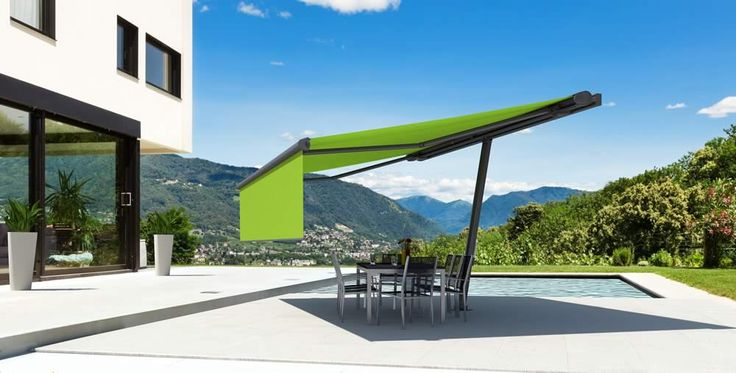 Markilux Planet freestanding awning. Ideal for large open gardens.