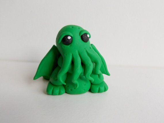 Cthulhu Figurine, Cthulhu Statue, Cute Cthulhu, FREE UK SHIPPING, H P Lovecraft…