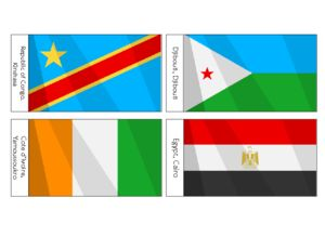African Flags Printables For Kids  #african #flags #preschool #kids