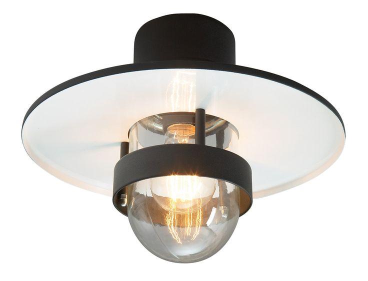 Lampa zewnętrzna sufitowa BERGEN 271 z blachy ocynkowanej ogniowo z kloszem przezroczystym.