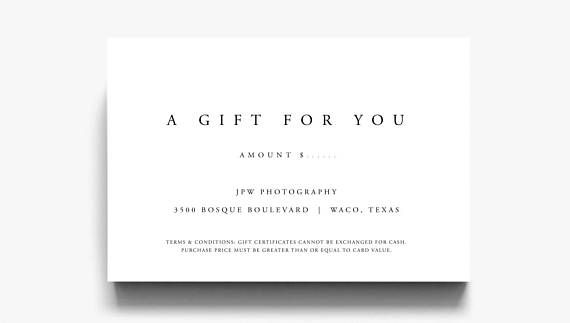 Gift Certificate Template A Gift For You Gift Voucher #printables #ad
