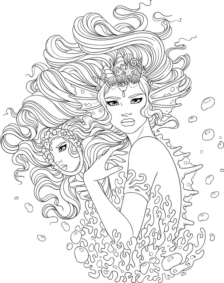 Line Artsy - Free adult coloring page - Sea Monster (uncolored)