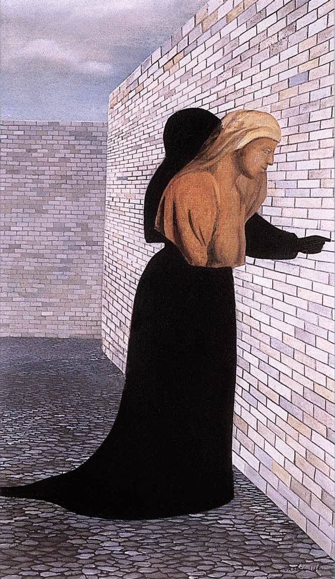 Woman in Black Robe 1956 Paintings | Lili Orszag paintings