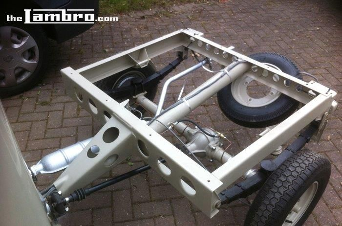 Lambro 550 - Chassis, suspension and rear axle