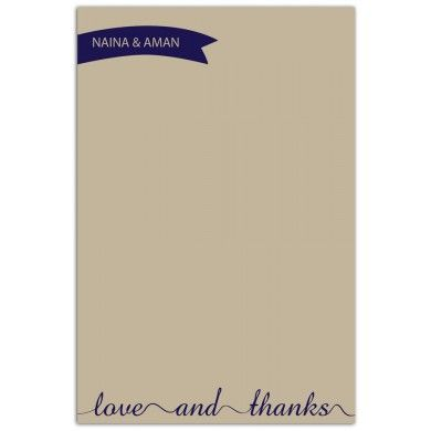 Thanks - #LoveBand. Express your love and gratitude with this vintage themed #ThankYou notecard perfect for a #couple.