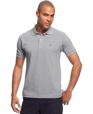Lacoste Classic Pique Polo Shirt  - Silver 4XL