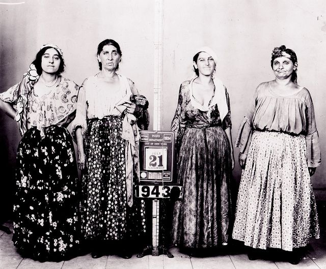 A mugshot of fortune-telling women, New York, 1943.