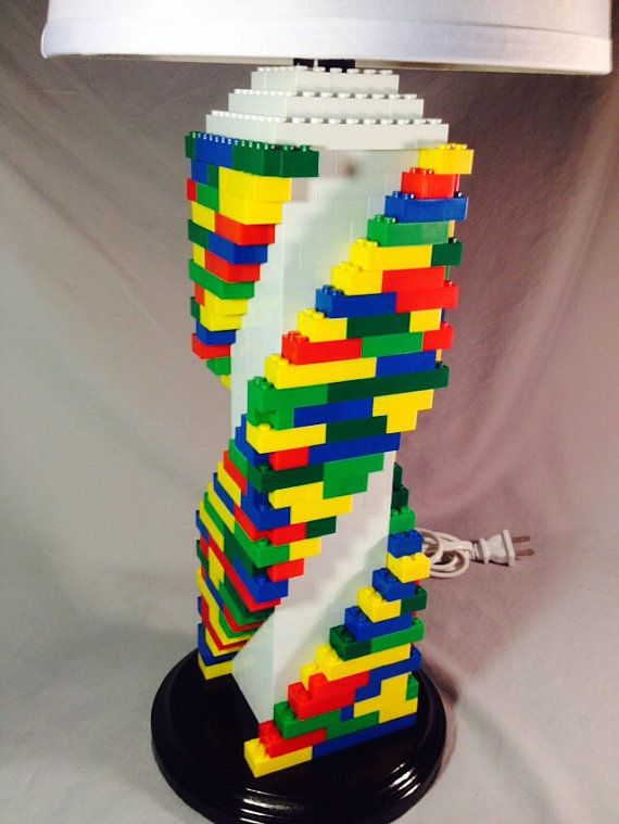Lego Lamp Multicolored Spiral Staircase Lamp by LegoLamps on Etsy