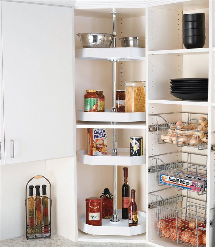 Corner Pantry Shelves: Revolving Corner Shelf...for The Closet, Instead Of The