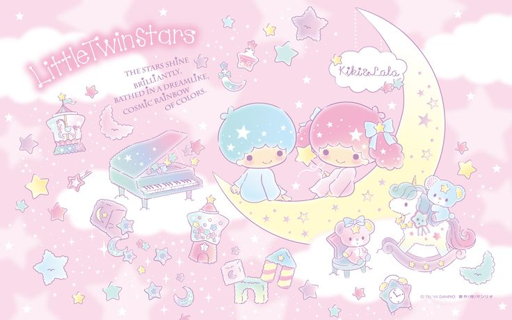 【Android iPhone PC】Little Twin Stars Wallpaper 201606 六月桌布 日本草莓新聞
