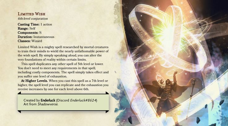 Pin by michael craigo on dnd 5e spells with images