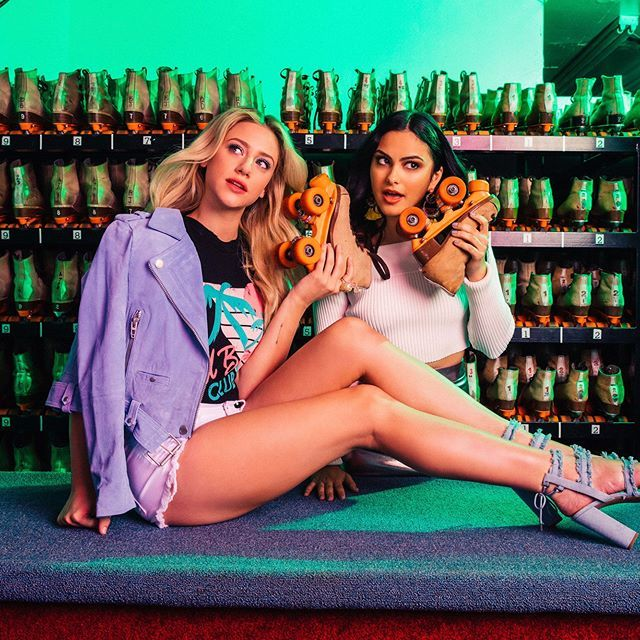 Take a look at our @cosmopolitan shoot/interview   had a pretty amazing time at the roller-rink with my girl @camimendes