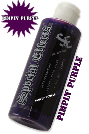 Special Effects Hair Dye - Pimpin Purple!-- Click to Enlarge--