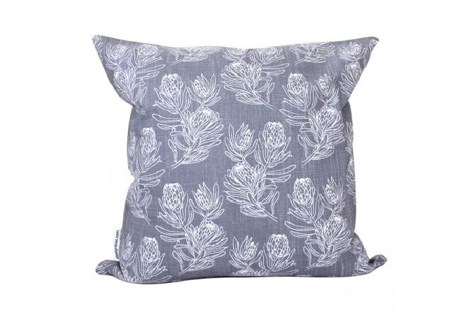 Sketchy Protea cushion cover by Design Kist on hellopretty.co.za