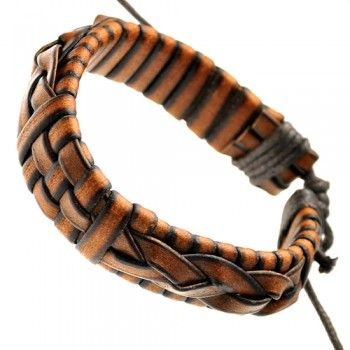 Light Brown Braided Adjustable Leather BraceletTrav'Lin Lights, Brown Braids, Lights Brown, Light Browns