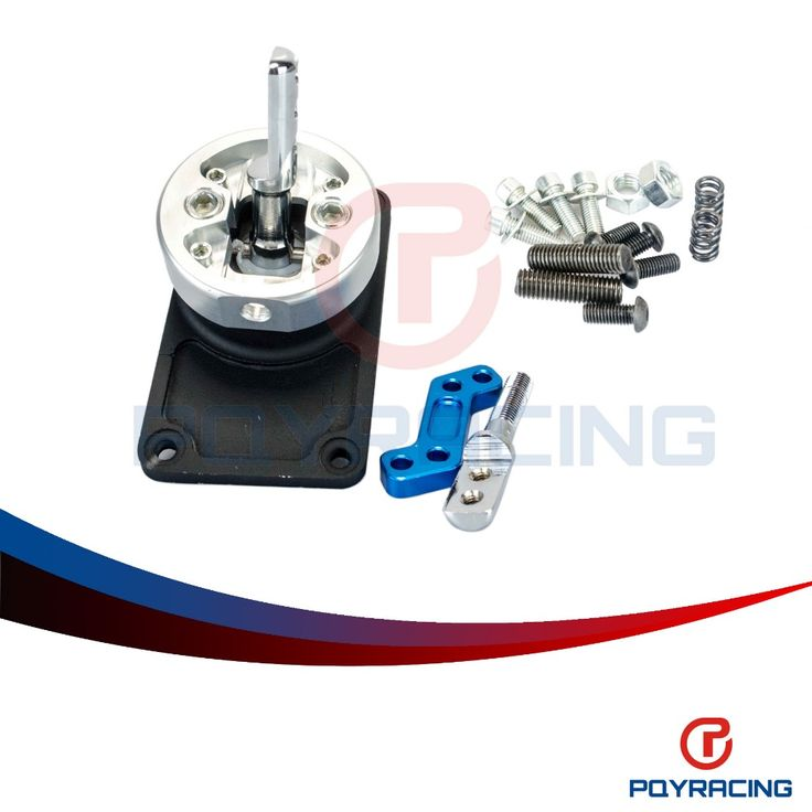 PQY RACING- ALUMINUM RACING SHORT THROW SHIFTER FOR 83- 04 FORD MUSTANG T5 T- 45 W/OD BLACK PQY5305