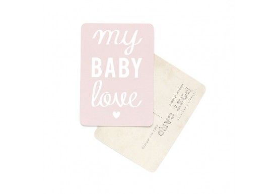 Carte postale My baby love / Mona - rose 2,00 € http://www.laboutiquedelouise.com