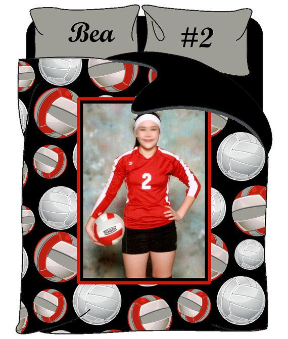 Custom Volleyball Photo Theme Bedding Personalized By Redbeauty