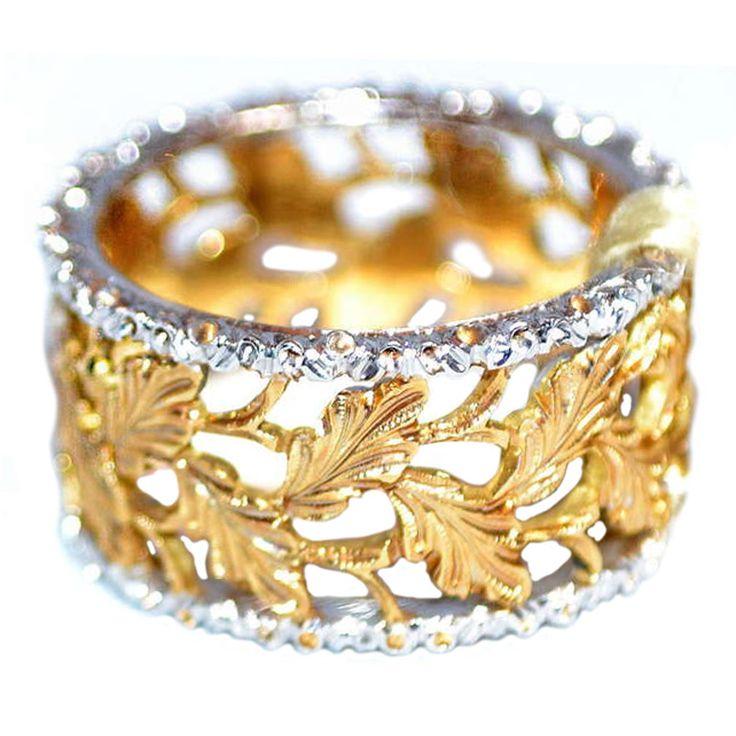 Mario Buccellati 18K yellow and white gold Ring www.finditforweddings.com